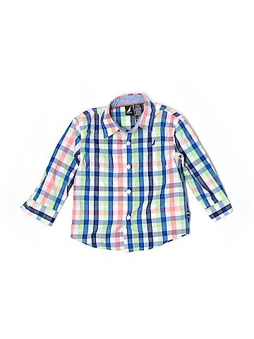 Nautica Long Sleeve Button-Down Shirt Size 2T