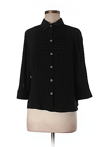 Kathy Che 3/4 Sleeve Blouse Size M (Petite)
