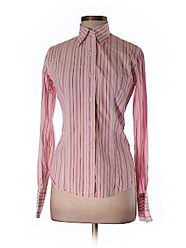T.M. Lewin Long Sleeve Button-Down Shirt Size 8