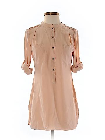 Ann Taylor Long Sleeve Silk Top Size 0