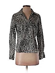 Jones New York Signature Women Long Sleeve Blouse Size M (Petite)