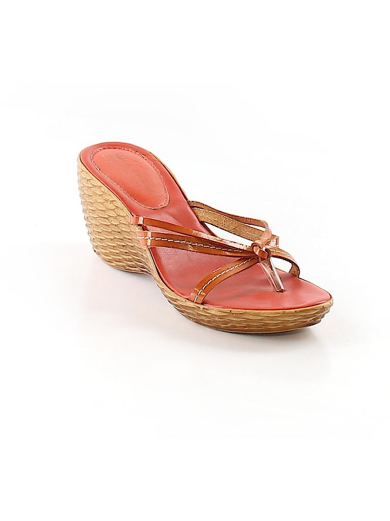 864f84cc24ca Mila Paoli Solid Orange Wedges Size 8 - 74% off