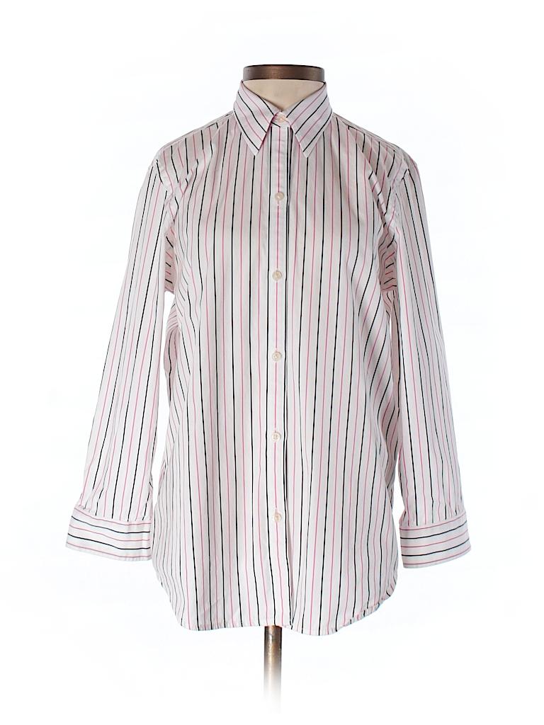 Lauren by Ralph Lauren Women Long Sleeve Button-Down Shirt Size S