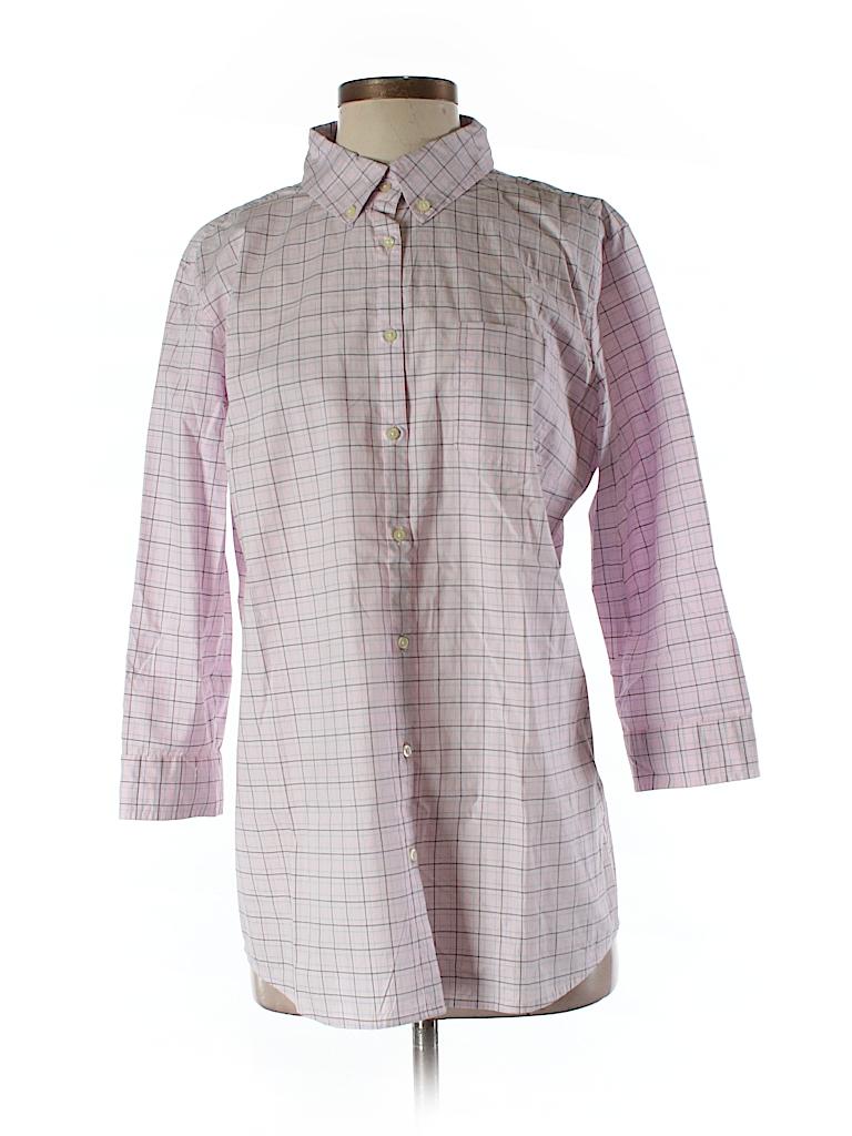 Banana Republic Women 3/4 Sleeve Button-Down Shirt Size 12