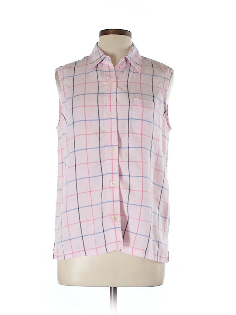 Jones New York Sport Women Sleeveless Button-Down Shirt Size 10