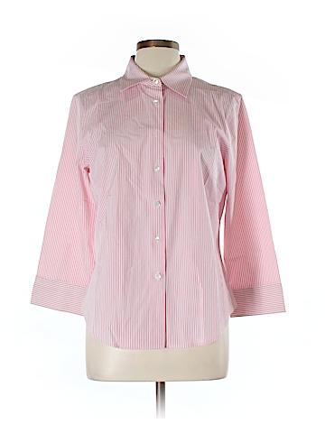 J. Crew 3/4 Sleeve Button-Down Shirt Size L