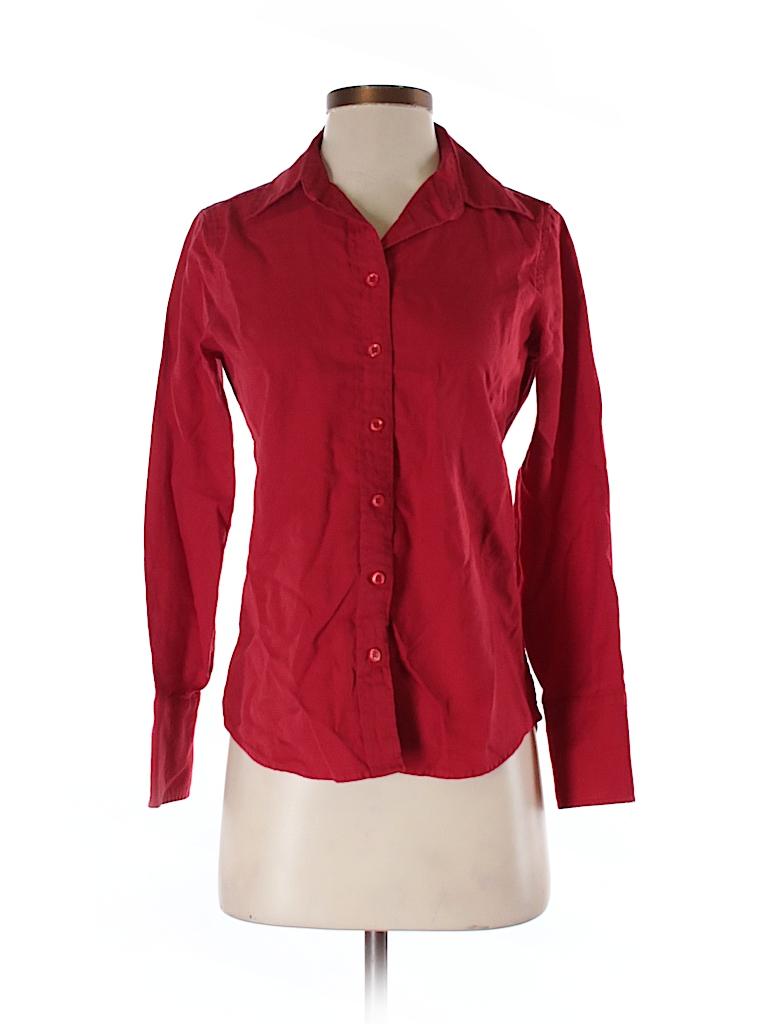 J. Crew Women Long Sleeve Button-Down Shirt Size 2 (Petite)