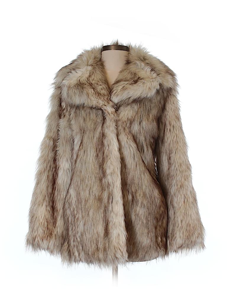 ASOS Women Faux Fur Jacket Size 4