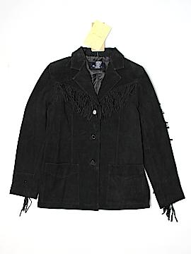 Denim & Co Leather Jacket Size M