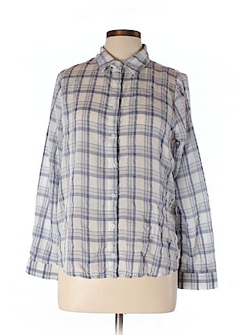 Lumiere Women Long Sleeve Button-Down Shirt Size L