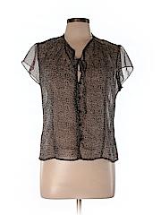 Jonathan Martin Women Short Sleeve Blouse Size M
