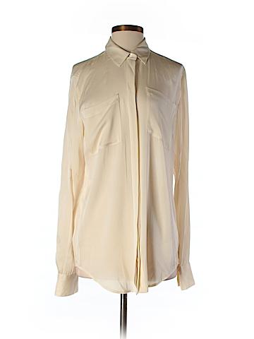 J. Crew Long Sleeve Silk Top Size 8 (Tall)