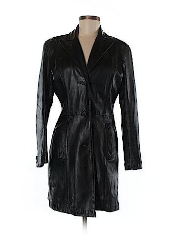 Luis Alvear Faux Leather Jacket Size M