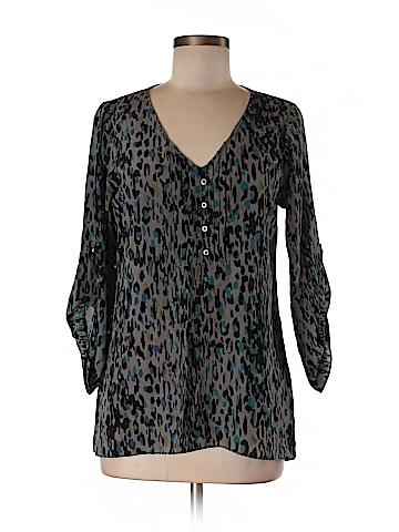 Waverly Grey Long Sleeve Blouse Size 4
