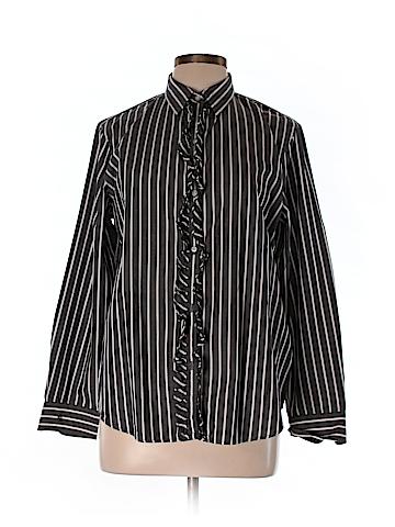 Lauren by Ralph Lauren Long Sleeve Button-Down Shirt Size L