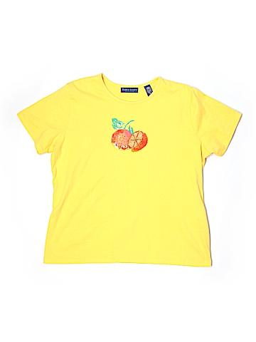 Karen Scott Short Sleeve T-Shirt Size L (Petite)
