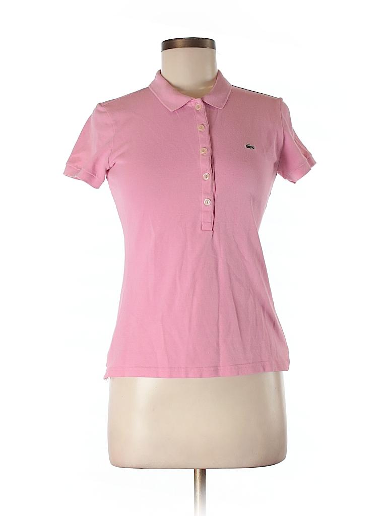 lacoste solid light pink short sleeve polo size 40 eu 84 off thredup. Black Bedroom Furniture Sets. Home Design Ideas