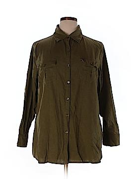 Silhoutte 3/4 Sleeve Button-Down Shirt Size 1X (Plus)