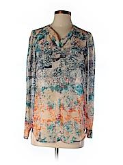 Mossaic Women Long Sleeve Blouse Size XS