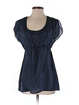 Velvet Short Sleeve Silk Top Size S