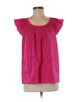Cynthia Rowley Short Sleeve Silk Top Size M