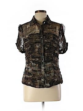 Worth New York Short Sleeve Silk Top Size 8