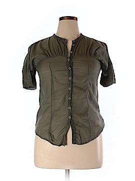 Transit Par-Such Short Sleeve Button-Down Shirt Size Med (II or 2)