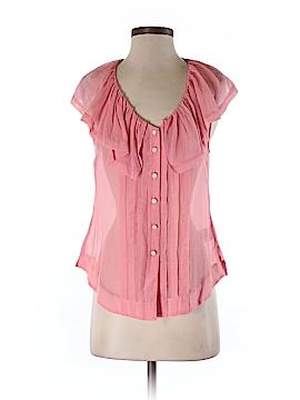 Moulinette Soeurs Short Sleeve Silk Top Size 2