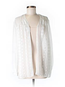 Zoa Long Sleeve Silk Top Size M