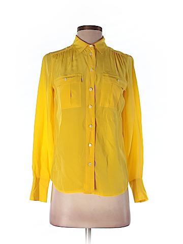 J. Crew Long Sleeve Silk Top Size 00