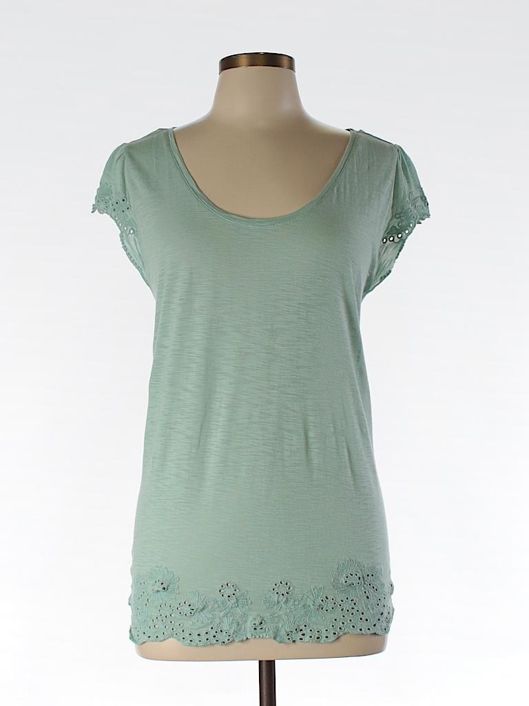 Ann Taylor LOFT Women Short Sleeve T-Shirt Size L (Petite)