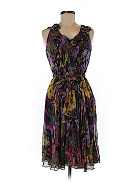 Suzi Chin for Maggy Boutique Silk Dress Size 6 (Petite)