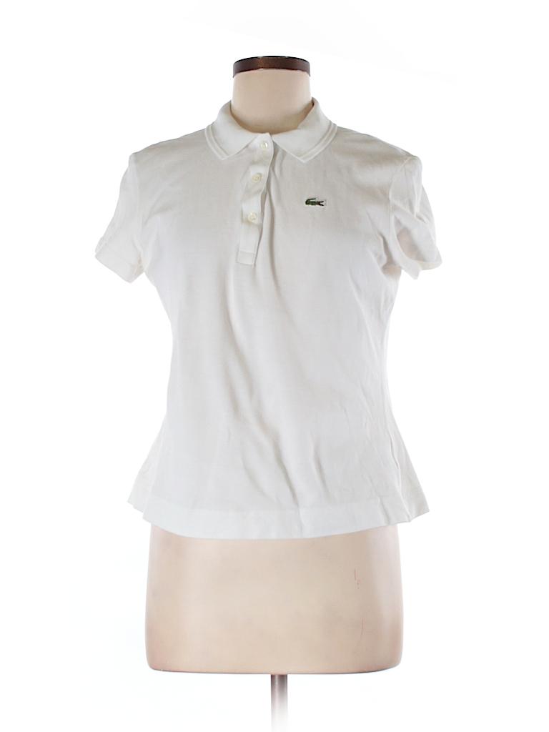 lacoste 100 cotton solid white short sleeve polo size 44 eu 82 off thredup. Black Bedroom Furniture Sets. Home Design Ideas