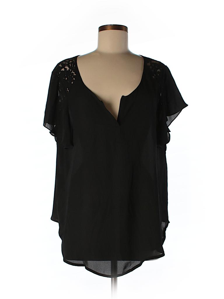Torrid Women Short Sleeve Blouse Size 0