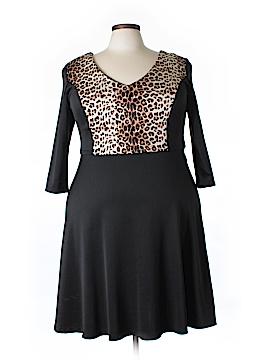 Lucie Lu Casual Dress Size 1X (Plus)