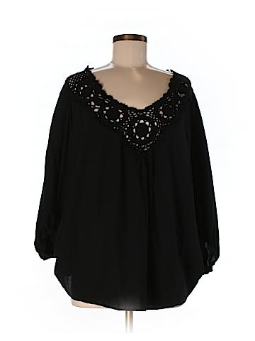 Souvenir Edition by Staci Woo Women 3/4 Sleeve Blouse Size M