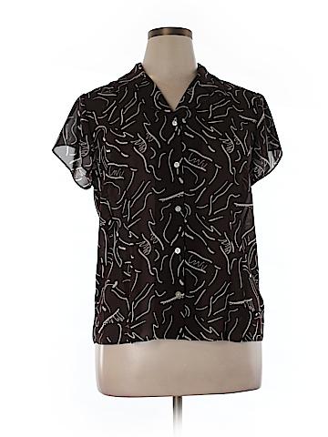 Liz Claiborne Short Sleeve Blouse Size 16
