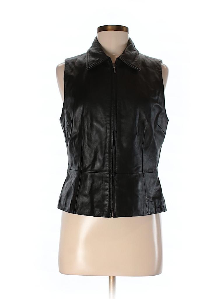Apt. 9 Women Leather Jacket Size M