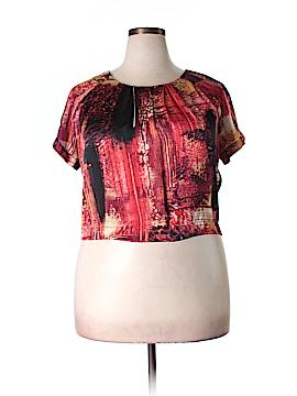Modamix By Brandon Thomas Short Sleeve Blouse Size 1X (Plus)