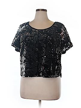 Modamix By Brandon Thomas Short Sleeve Blouse Size 0X (Plus)