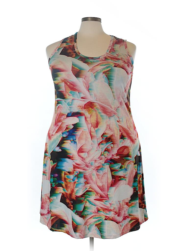 Jete Women Casual Dress Size 1X (Plus)