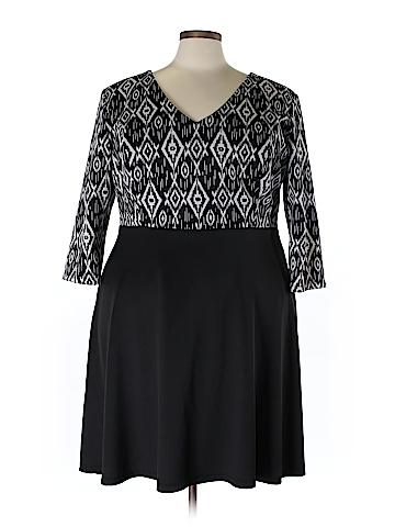 Lucie Lu Casual Dress Size 4X (Plus)