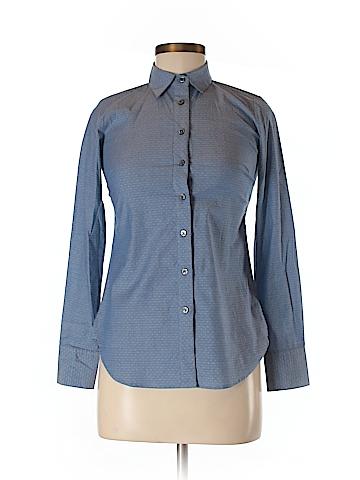 Ann Taylor Women Long Sleeve Button-Down Shirt Size 00 (Petite)