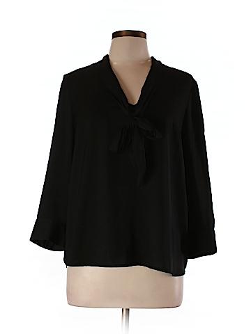 Kensie Women 3/4 Sleeve Blouse Size L