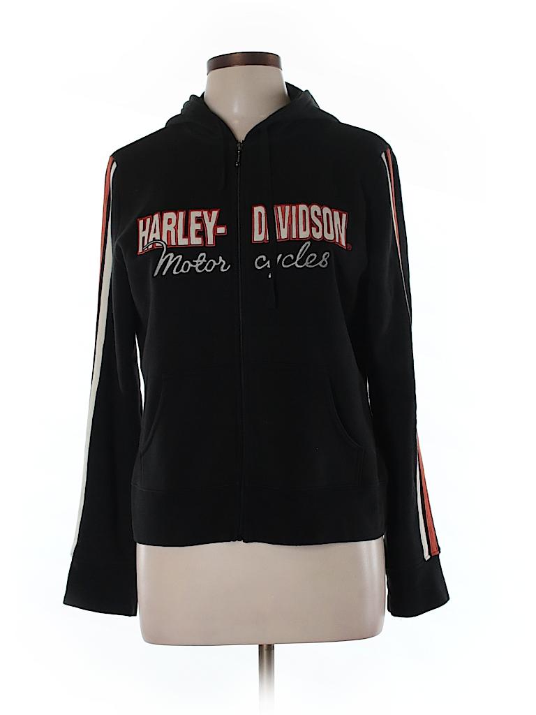 Harley Davidson Women Zip Up Hoodie Size L