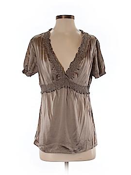 BCBGMAXAZRIA Short Sleeve Silk Top Size M