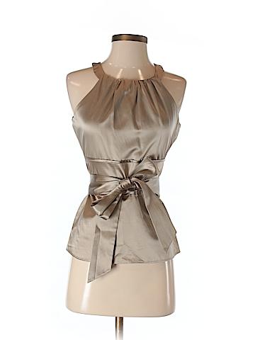 Ann Taylor Women Sleeveless Silk Top Size 6 (Petite)