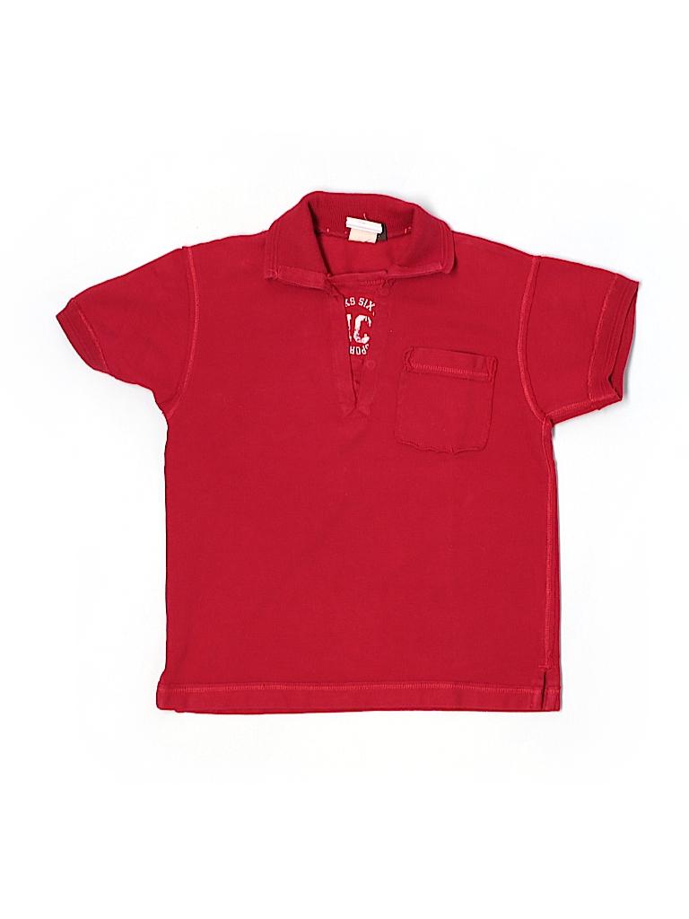 ikks 100 cotton solid red short sleeve polo size 5 97 off thredup. Black Bedroom Furniture Sets. Home Design Ideas