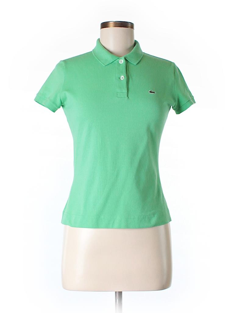 lacoste solid light green short sleeve polo size 40 eu 86 off thredup. Black Bedroom Furniture Sets. Home Design Ideas