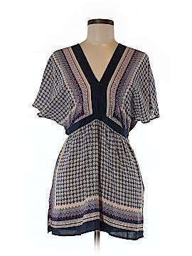 Meadow Rue Short Sleeve Silk Top Size S